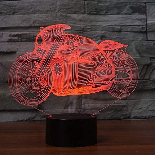 Creatieve LED 3D Decor verlichting apparaten motorfiets Nightlight USB Baby Sleeping Sports Bikes tafellamp voor kinderen kerstcadeaus