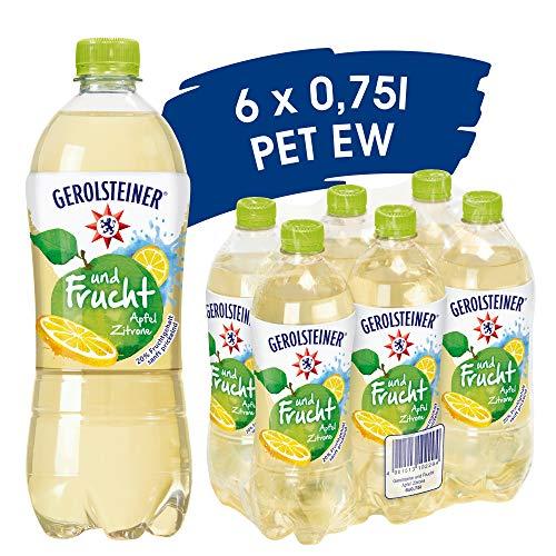 Gerolsteiner und Frucht Apfel Zitrone, EINWEG (6 x 0,75 l)