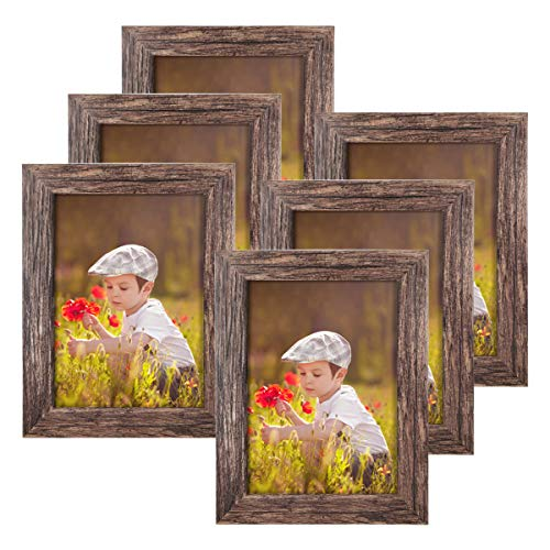 Q.Hou 5x7 Picture Frame Wood Pat...