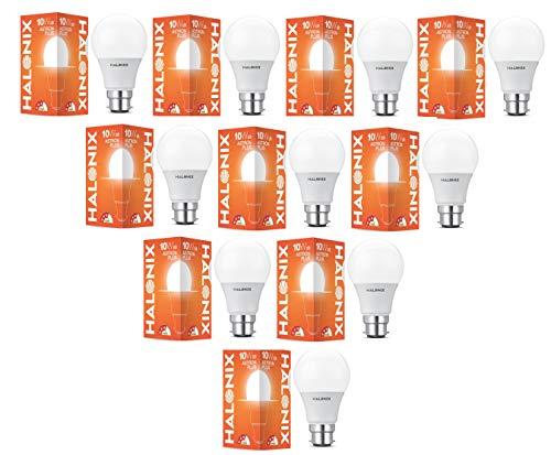 Halonix Astron Base B22 10-watt Led Bulb (Pack of 10, White)