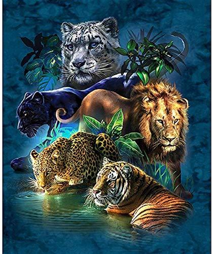 194Tdfc Animal Tigre Leopardo León 1000 Piezas Juego De Puzzles Madera Niños Juguete Para Adultos Desarrollar La Paciencia Enfoque Reducir La Presión Hd Impresión 3D Diy Paisaje Anime