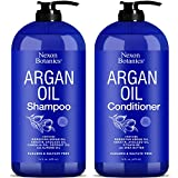 Nexon Botanics Argan Oil Shampoo and Conditioner Set 16 oz each - Softens and Revitalizes Hair - Promotes Hair Growth - Helps Restore Damaged Hair - Paraben and Sulfate Free Shampoo - Men and Women