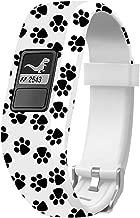 Sibode Watch Band Compatible with Garmin Vivofit 3/ Vivofit JR/JR. 2,Accessories Replacement Bands with Secure Watch Strap for Garmin Vivofit 3, Paw