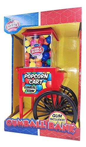 Dubble Bubble Máquina hucha expendedora Carrito Popcorn + 50 gramos bolas de chicles