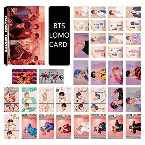 ALTcompluser Kpop BTS Map Of The Soul : Persona Lomo Photocard/Fotokarten Set, Bangtan Boys Jungkook,Jimin,V,Suga,Jin,J-Hope, RM Lomo Cards/Karten,Geschenk für Army, 30 Blätter(BTS)