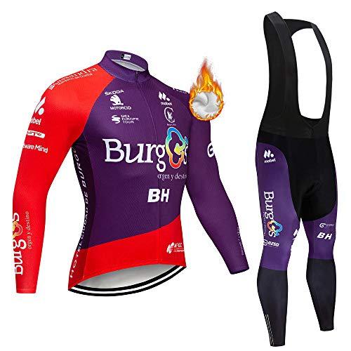 Termico Invernale Uomini Sport all'Aria Aperta Usura Manica Lunga Magliette Ciclismo Maglia Bicicletta Bici Abbigliamento Bici Triathlon Wear