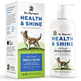 Dr. Harvey's Health & Shine Omega 3 Fish Oil for Dogs from Wild Caught Mackerel, Herring, Anchovies and Sardines - Supports Beautiful Fur, Strong Joints and Itchy Allergy Relief (16 FL OZ)