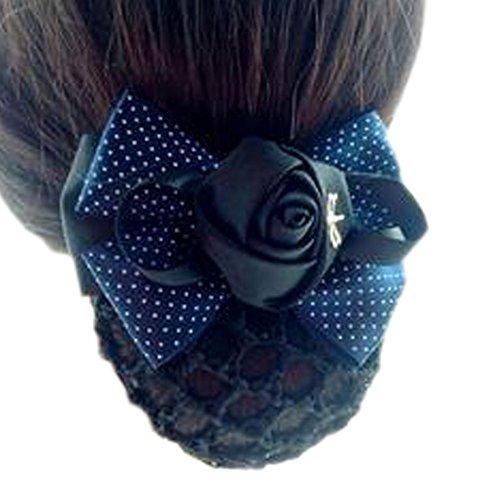 Fleur de dames, élastique, couvre-cheveux, cheveux, cheveux, Snood, Bowtie, mailles, 3 Blue Jade Point