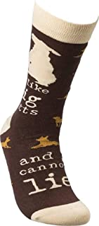 Primitives by Kathy LOL Made You Smile Silly Socks, Big Mutts