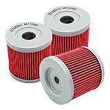 1/3/6 PCS Filtro de aceite de motocicleta para Suzuki DRZ400 DRZ400E DRZ400S DRZ400SM DRZ 400 SM Quadracer LTR 450 LTZ400 LTZ 400 QUADSPORT (Color : 3pcs red)