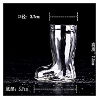 EMEI ビールガラス透明ブーツドラフトビールガラスジュースカップキャンディーKTVスペシャルかわいいクリエイティブビールカップ (Color : 3.7x5.7x7.5cm)