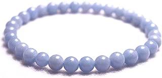 Wholesale Natural 6mm AA Angelite Bracelet,Jewelry Bracelet,Gift Bracelet Wholesale.Gemstone Beaded Stretch Bracelet 6mm Round Beads 7.2