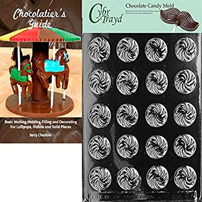 Cybrtrayd Bk-AO047 Swirl Mints All Occasions Chocolate Candy Mold