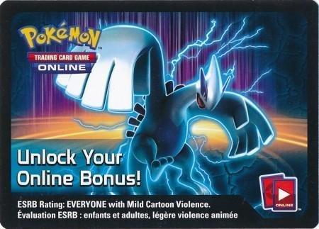Pokemon - Team Plasma Lugia-EX Collector's Tin Unused Code Card TCGO...