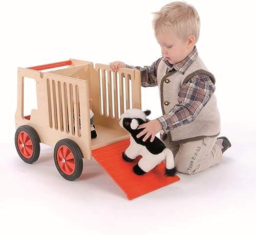 B  Holzspielwaren Tiertransporter aus Holz