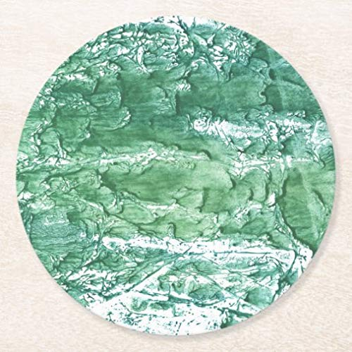 Posavasos para bebidas, base de corcho, juego de 4 posavasos redondos de mármol verde, para decoración de mesa del hogar y de la cocina, divertido regalo de inauguración de la casa, regalos de Navidad