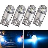Qasim 4pcs Bleu Glace T10 501 Ampoule LED 2-SMD 3030 W5W 194168 Wedge T10 Ampoules Intérieures De Voiture Lumière Latérale Boot Lights Plaque D'immatriculation Ampoule (DC 12V)