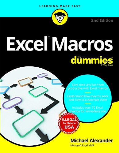 Excel Macros For Dummies, 2ed
