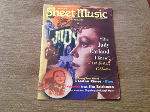 sheet music magazine 'the judy garland i knew' may/june 1997 bimonthly issue, from the USA