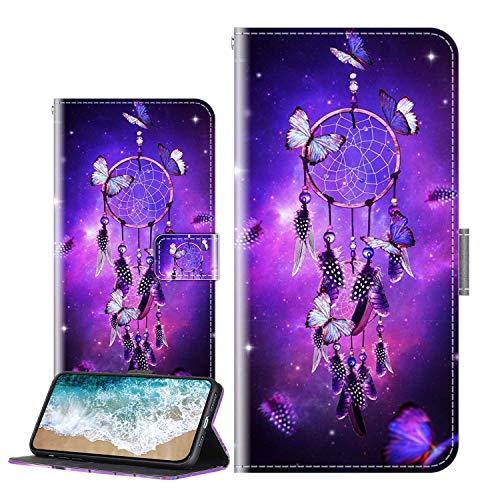 Cherfucome Handytasche Kompatibel mit LG K52 Hülle Leder Tasche Brieftasche Flip Hülle Cover LG K52 Handyhülle Ledertasche Lederhülle Schutzhülle [C09*Windspiele]