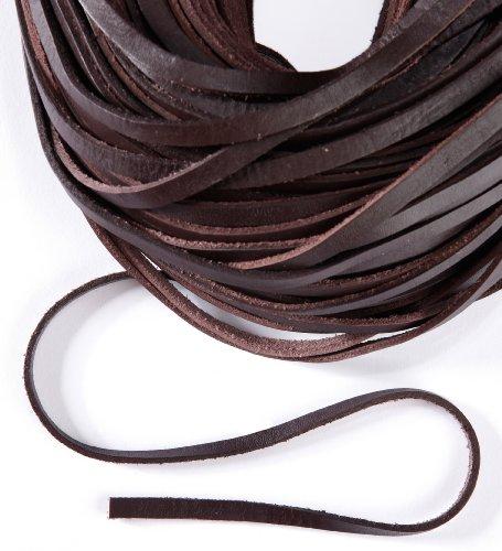 esnado Lederband, Lederriemen 5 m. Breite 9-10 mm. Dicke 2,5 mm. Braun