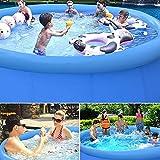 Piscina inflable grande, InLoveArts 240 * 240 * 63 PVC Piscina de bolas oceánicas de PVC resistente al desgaste, Piscina inflable para niños para adultos Piscina grande redonda para adultos
