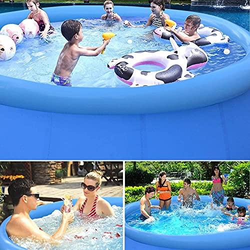 Piscina gonfiabile grande,InLoveArts 240 * 240 * 63 PVC Piscina a sfera oceanica resistente all'usura in PVC, Piscina gonfiabile Bambini per adulti rotondi Adulto Grande piscina per a 6-8 persone