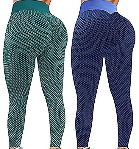 SHUOYUE Leggings Sportivi Donna 2 Pezzi Pantaloni Fitness Leggins Yoga Vita Alta Leggings...