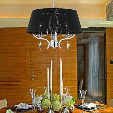 Kejing Moderne kroonluchter plafondlamp hanger elegante kristallen kroonluchter met 3 lampen in een zwarte kap 3C Ce FCC-RoHS voor woonkamerslaapkamer