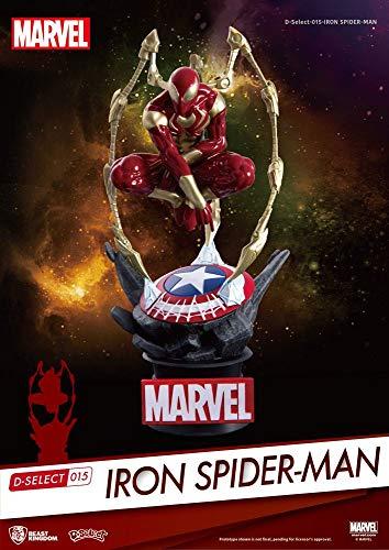 Beast Kingdom- Marvel Diorama Iron Spider Man, Multicolor (BKDDS-015)