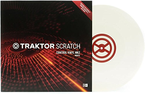 Native Instruments Traktor Scratch Control Vinyl Bianco MKII Vinile timecode DJ