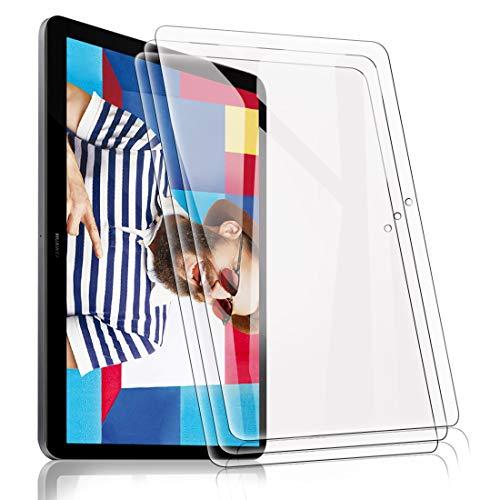 [3 Pack] Pellicola Protettive per Huawei MediaPad T5 10 10.1, Ultra Trasparente Vetro Temperato Screen Protector Film 9H Durezza Anti- Scrach Anti Impronte Anti-Graffi Anti-Olio