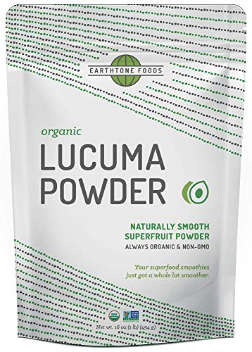 Lucuma Powder Organic   Premium Peruvian USDA & Paleo Certified Raw Vegan Superfood - Natural Sweetener - Perfect for Smoothies, 16 Ounces