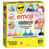 Creativity for Kids Emoji Window Art - Paint Your Own DIY Window Art Craft Kit for Kids