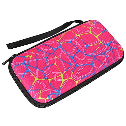 Taschenrechner-Aufbewahrungstasche, wasserdichter Mehrzweck-Haltbarer Reise-Trage-Reißverschluss-Taschen-Organizer mit schwarzem Reißverschluss für Grafik-Rechner Texas Instruments(Rose Red)