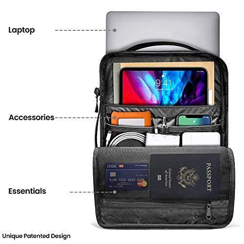 tomtoc Laptop Umhängetasche für 16-Zoll MacBook Pro A2141, 15-Zoll Macbook Pro, 15-Zoll Microsoft Surface Book 3/2, Dell XPS 15, Cordura Ballistic Stoff Wasserdicht Schultertasche Notebooktasche Hülle