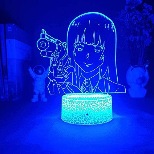 Kakegurui - Luz LED 3D de noche, Regalos, con 16 Cambios de Color y Control Remoto, Regalos para Niños a partir de 3 4 5 6 años