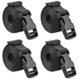 MAGARROW 40' Strap Buckle Packing Straps Adjustable 1-Inch Belt (1' Wide - 40' Long, Black (4 PCS))