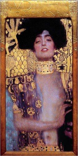 Posterlounge Lienzo 40 x 80 cm: Judith and Holofernes de Gustav Klimt - Cuadro Terminado, Cuadro sobre Bastidor, lámina terminada sobre Lienzo auténtico, impresión en Lienzo