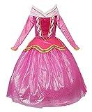 JerrisApparel Rosa Vestido de Princesa Disfraz Niña Vestido de Fiesta Vestido de Ceremonia (110cm, Rosa)