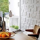 Revestimiento De Paredes 3D Squares 3m² | 12 Paneles Decorativos 3d de 50x50cm | Paneles...