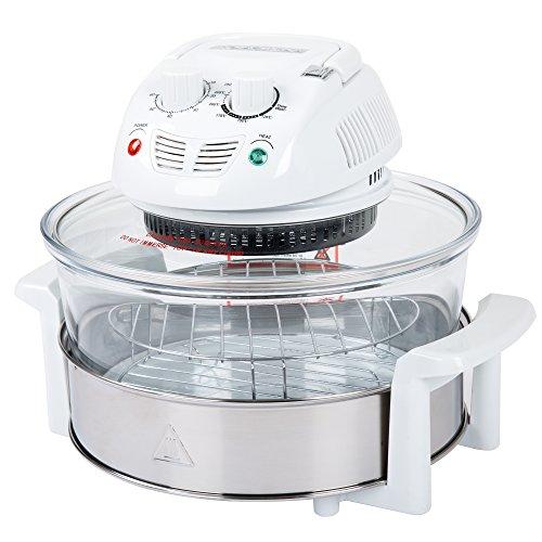 Classic Cuisine 12-17 Quart 1200W Halogen Tabletop Oven – White