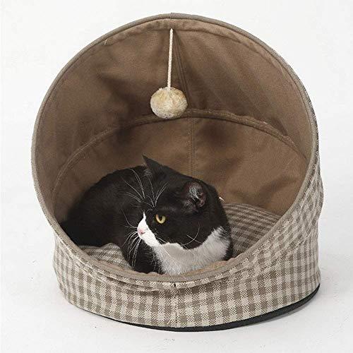 ZBQLKM Cara de Nido de Gato Cama acogedora de Mascotas Cavado cálido Nido Cama para Dormir, Cuna terapéutica ergonómica de la Cuna, Cama Suave cálida Casa de la Cueva Dormir
