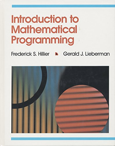 Introduction to Mathematical Programming and or Courseware/2 Disk