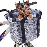 Cesta para bicicletas, frontal plegable Cestas para bicicletas para mascotas Marco desmontable en...