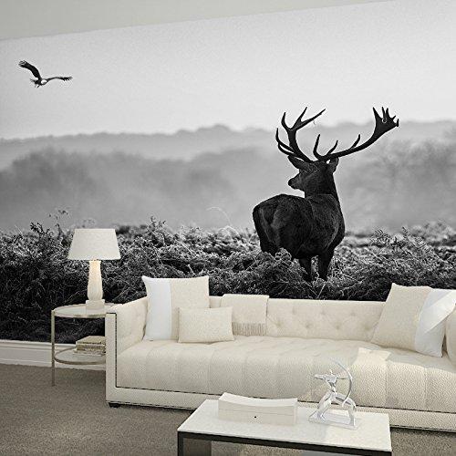 Preisvergleich Produktbild Wongxl 3D Benutzerdefinierte Malerei Der Wohnzimmer Sofa Tv Hintergrund Wand Papier Schwarz-Weiß-Elch Tapetenwände3D Tapete Hintergrundbild Fresko Wandmalerei Wallpaper Mural 150cmX100cm