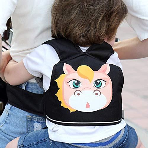 Motorrad Kinder Gürtel, Einstellbare Kinder Motorrad Gurtzeug Sicherheitsgurt Baby Schutz Gürtel Rucksack Träger Geschirr(Pferd)