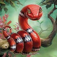 クリスマスパズル1500ピース赤いヘビが枝に巻かれているアートレジャーゲームおもちゃ家の装飾87X57cm