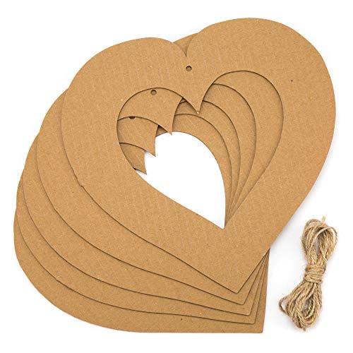 Baker Ross Herz-Bastelkränze als Bastel- und Deko-Idee für Jungen und Mädchen (10 Stück)