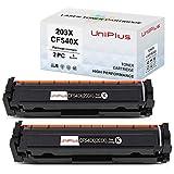 UniPlus 203X Compatibile per HP 203X 203A CF540X CF540A Cartucce Toner per HP Color Laserjet Pro MFP M281fdw MFP M281fdn MFP M281CDW MFP-M280NW, HP Color Laserjet Pro M254dw M254nw M254dn, 2 Nero